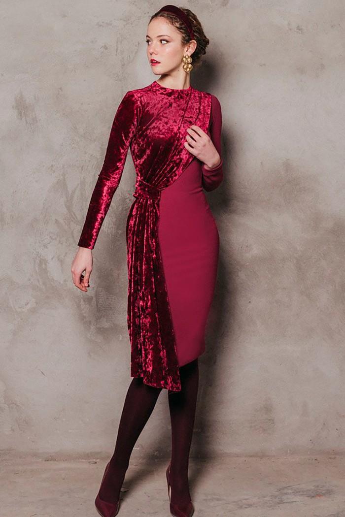 CHERUBINA SHAW DRESS