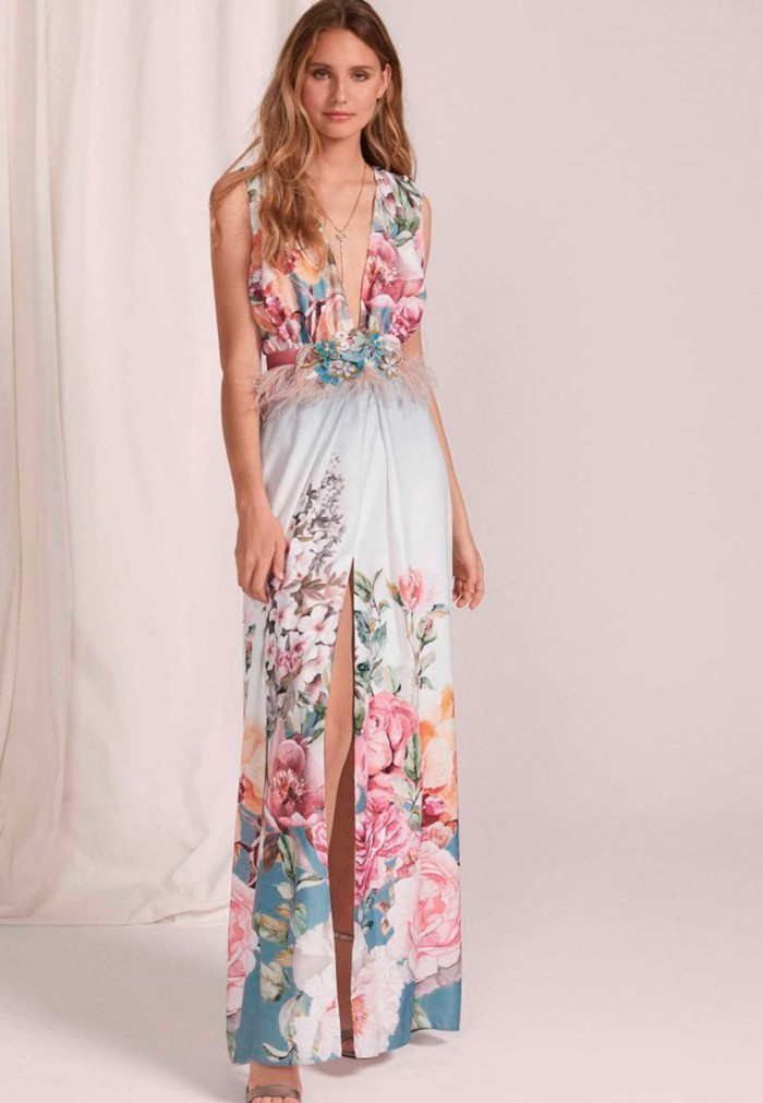 MASS LONG PRINT DRESS