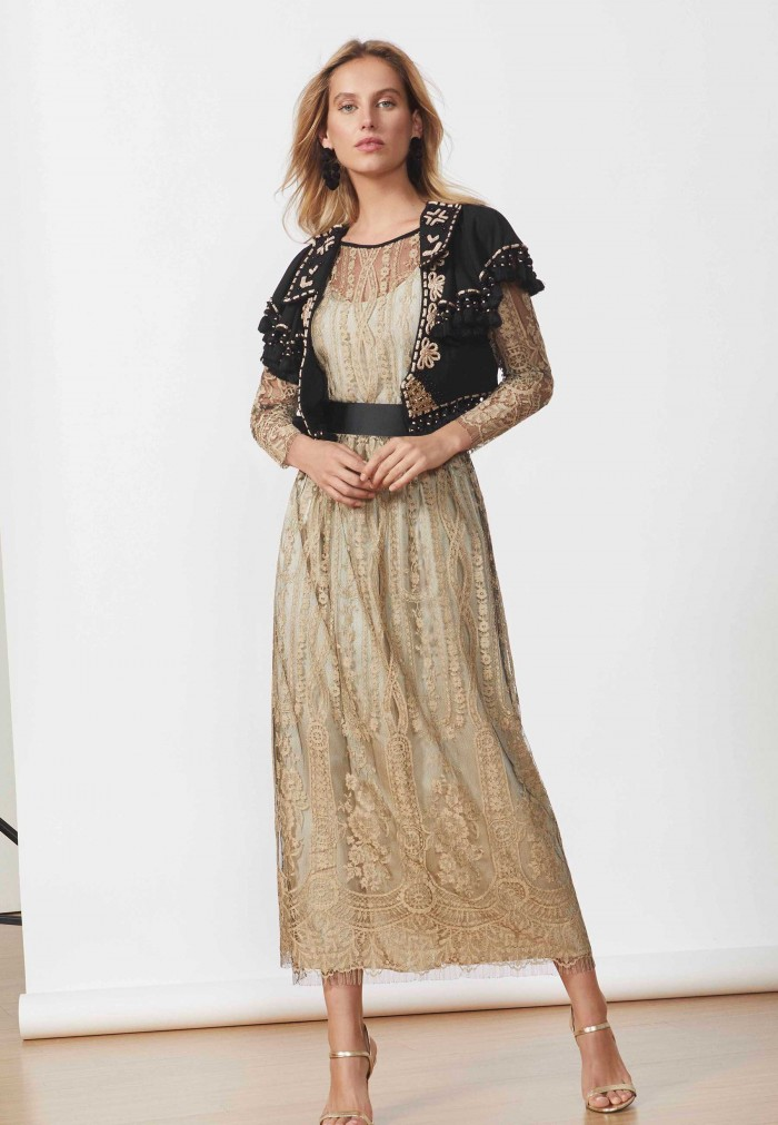 MATILDE CANO CHAMPAGNE DRESS