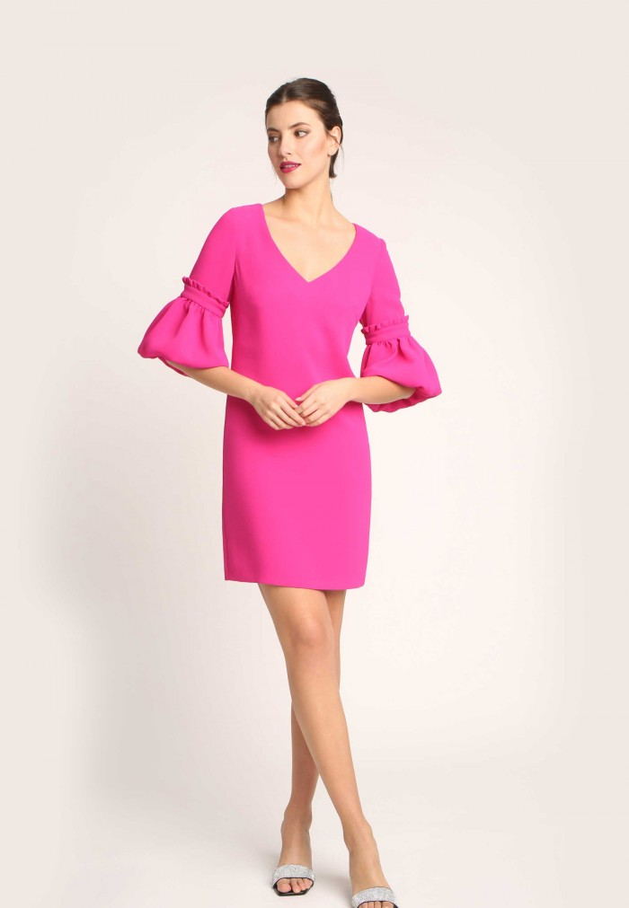 ALBA CONDE FUCSIA DRESS