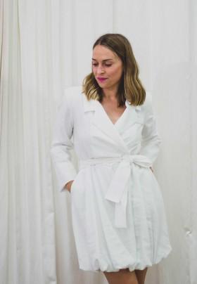 DENNY ROSE CRUZADO DRESS